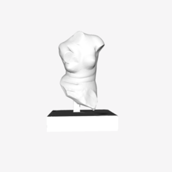 Download free 3D printer designs Part of Crouching Venus at The Louvre, Paris, Louvre
