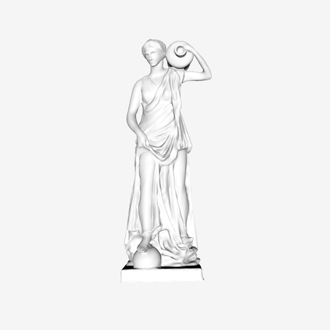 Free 3D print files Anchyrrohée or Terpsichore at The Louvre, Paris, Louvre