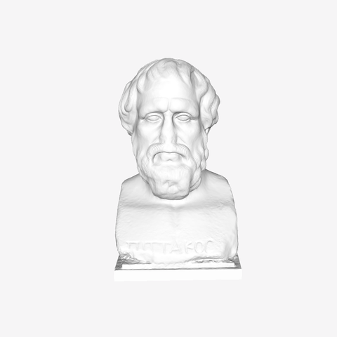 Download free 3D printing templates Portrait of Pittacos at the Louvre, Paris, France, Louvre