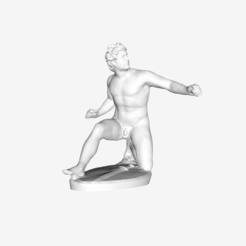 Download free 3D printing designs Injured Gaul at the Louvre museum, Paris, France, Louvre