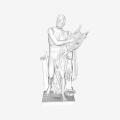 Download free STL file Homer at the Louvre, Paris, France • 3D printable design, Louvre