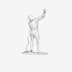 Download free 3D printing files Gladiateur Borghese at the Louvre, Paris, France, Louvre