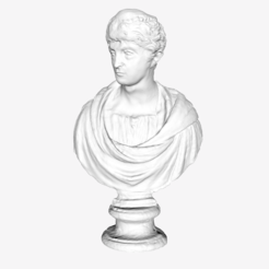 Download free STL file Faustina the Elder at The Louvre, Paris • 3D printer design, Louvre
