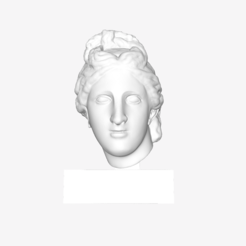 Download free STL file Head of Aphrodite of the Capitoline type at The Louvre, Paris • 3D printer model, Louvre
