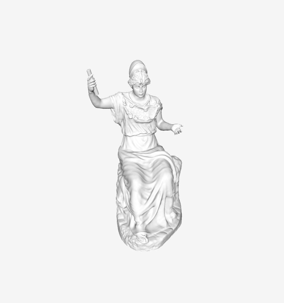 Capture d'écran 2018-09-21 à 14.40.57.png Download free STL file Seated Minerva at The Louvre, Paris • Template to 3D print, Louvre
