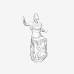 Download free 3D printing templates Seated Minerva at The Louvre, Paris, Louvre