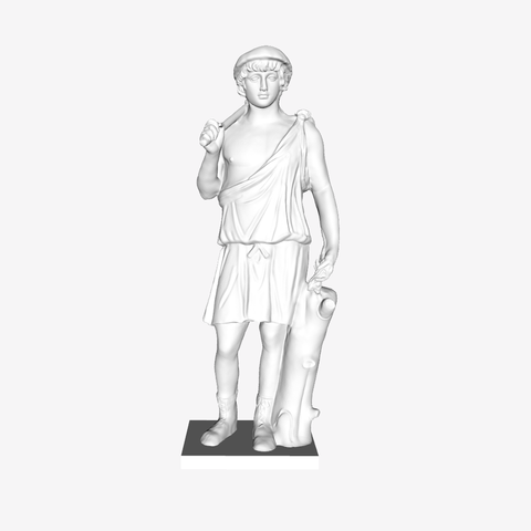 Free 3D printer designs Statue of Antinous as Aristaeus at The Louvre, Paris, Louvre