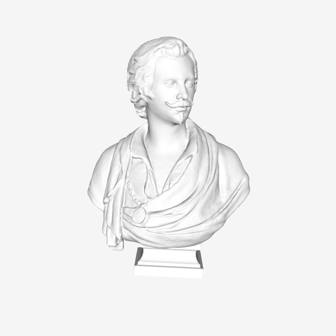 Download free STL file Antoon Van Dyck at The Louvre, Paris, Louvre