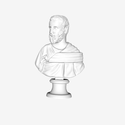 Capture d'écran 2018-09-21 à 16.19.18.png Download free STL file Unknown Bust at The Louvre, Paris • 3D print model, Louvre