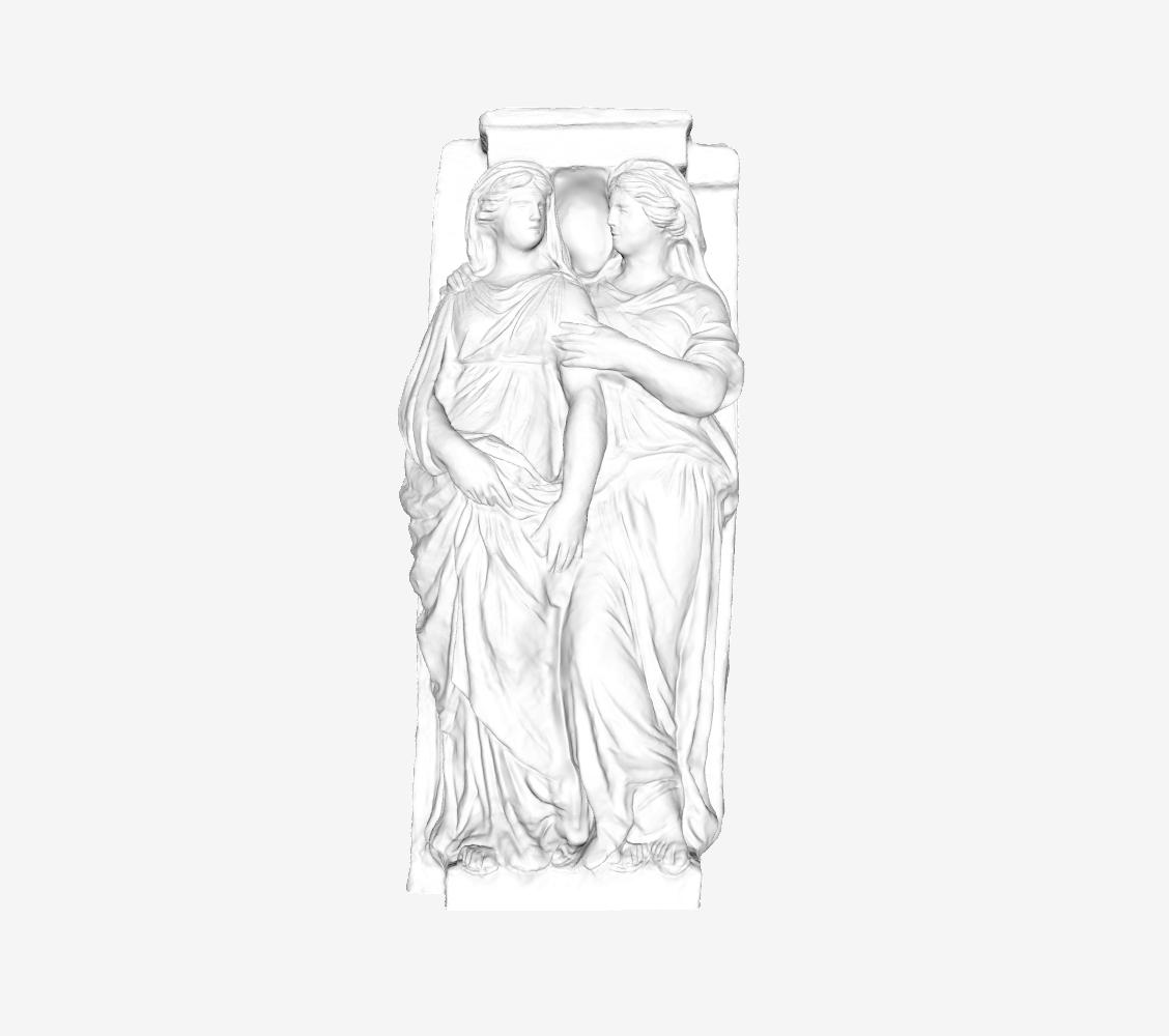 Capture d'écran 2018-09-21 à 16.14.45.png Download free STL file Two Caryatids at The Louvre, Paris • 3D print model, Louvre