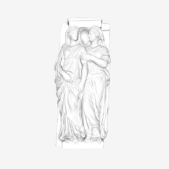 Download free 3D print files Two Caryatids at The Louvre, Paris, Louvre