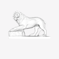 Free STL files Lion Funéraire at the Louvre, Paris, France, Louvre