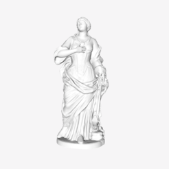 Download free STL file Saint Catherine at the Louvre, Paris • 3D printing template, Louvre