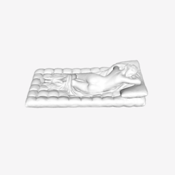 Download free STL file Sleeping Hermaphroditus at the Louvre, Paris, France, Louvre