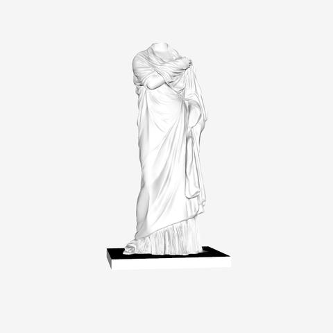 """Télécharger fichier 3D gratuit Statue d'une femme """"Petite Herculanaise"""" au Louvre, Paris., Louvre"""