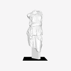 Download free STL file Artemis (Diana) at The Louvre, Paris • 3D printing object, Louvre