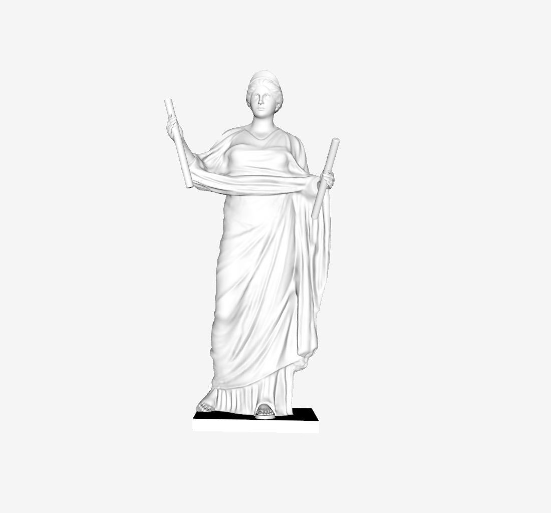 Capture d'écran 2018-09-21 à 18.28.59.png Download free STL file Adorante restored to be Euterpe at The Louvre, Paris • 3D printing template, Louvre