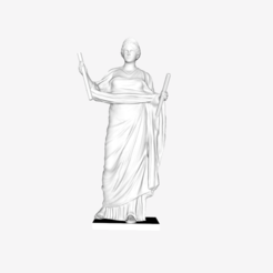 Download free 3D printer files Adorante restored to be Euterpe at The Louvre, Paris, Louvre