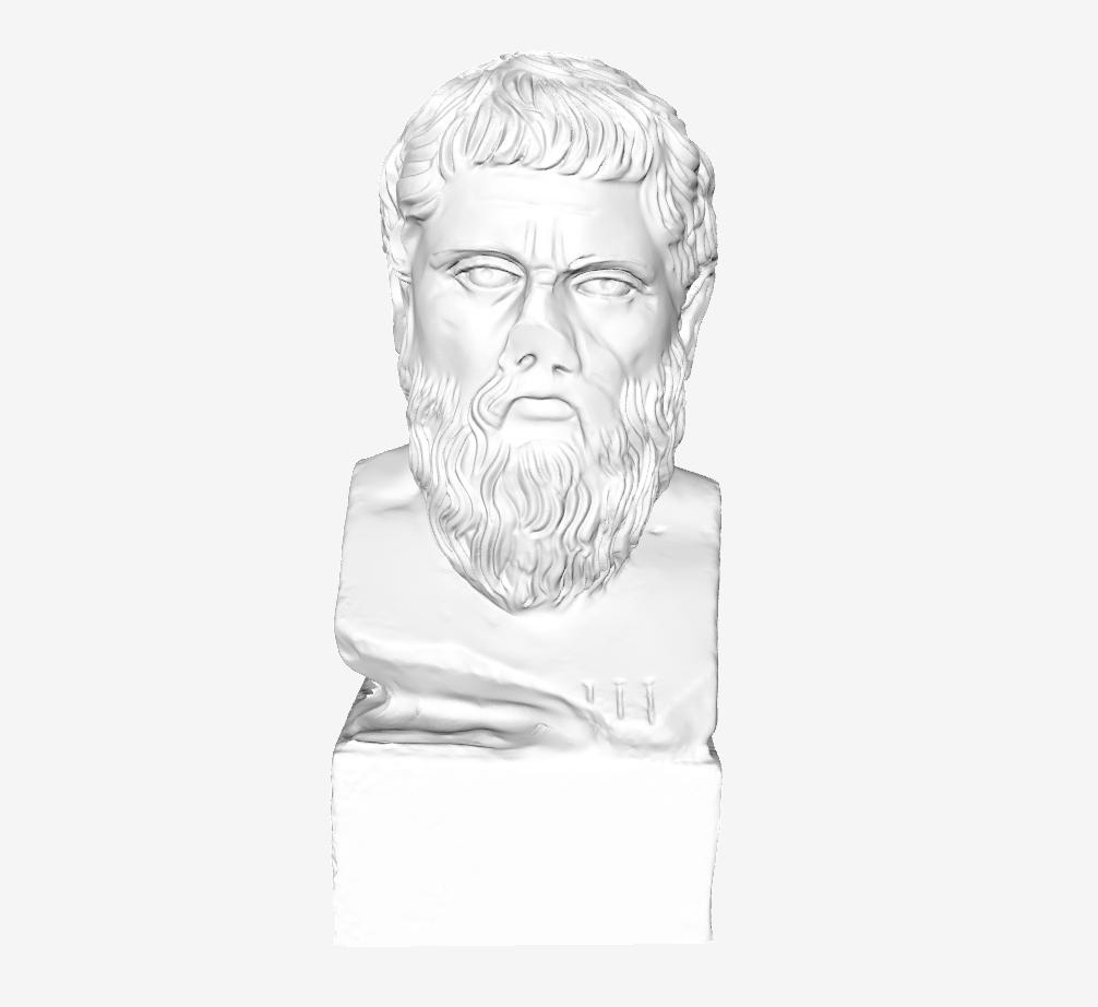 Capture d'écran 2018-09-21 à 17.13.04.png Download free STL file Plato at The Louvre, Paris • Template to 3D print, Louvre