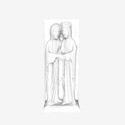 Download free 3D printer designs The Visitation at the Louvre museum, Paris, Louvre