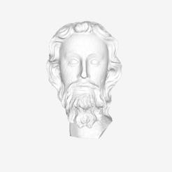 Imprimir en 3D gratis Cabeza de un apóstol en el Louvre, París, Louvre