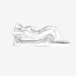 Download free STL file Sleeping Ariane at The Louvre, Paris • Design to 3D print, Louvre