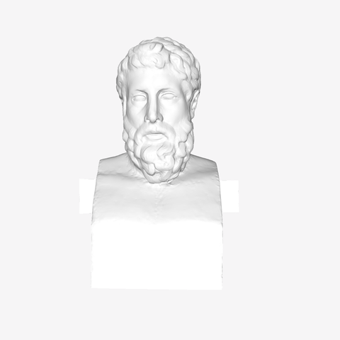 Download free 3D printer files Head of Métrodore and Epicure at the Louvre, Paris, France, Louvre