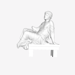 "Download free STL file Seated woman called ""Barberini suppliant"" at The Louvre, Paris • 3D printing object, Louvre"