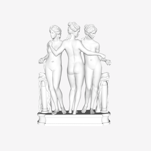 Download free 3D model The Three Graces at The Louvre, Paris, Louvre