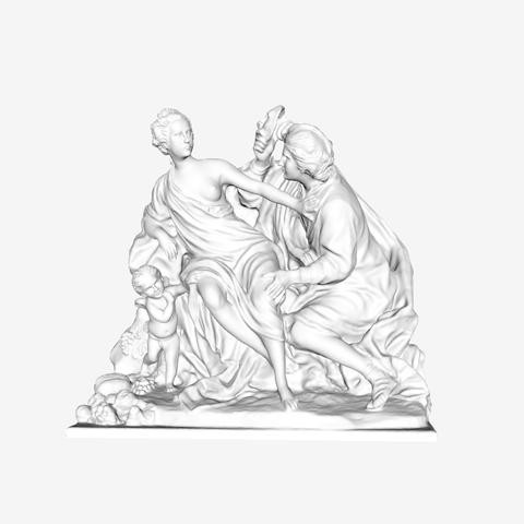 Download free 3D printer model Vertumnus and Pomona at The Louvre, Paris, Louvre