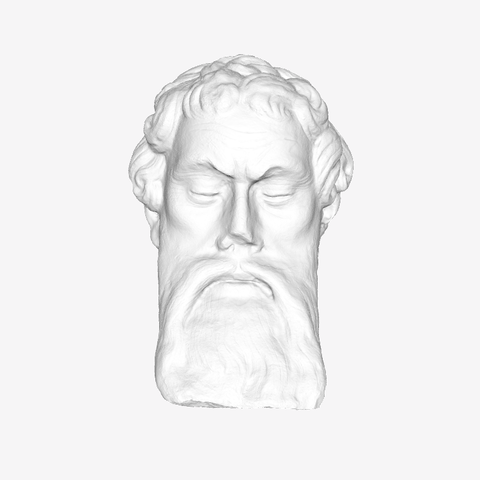 Download free 3D print files Head of an Apostle at The Louvre, Paris, Louvre