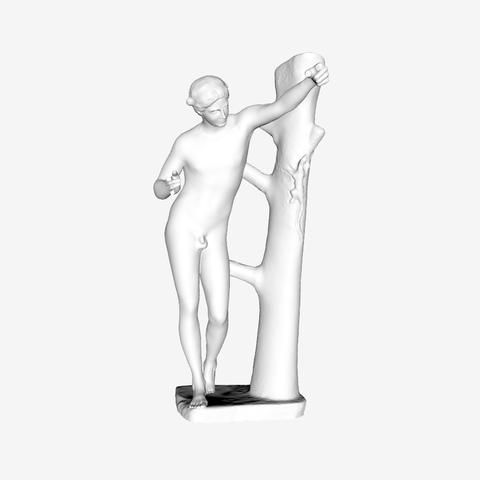 Capture d'écran 2018-09-21 à 18.32.43.png Download free STL file Apollo Sauroctonus at The Louvre, Paris • Object to 3D print, Louvre