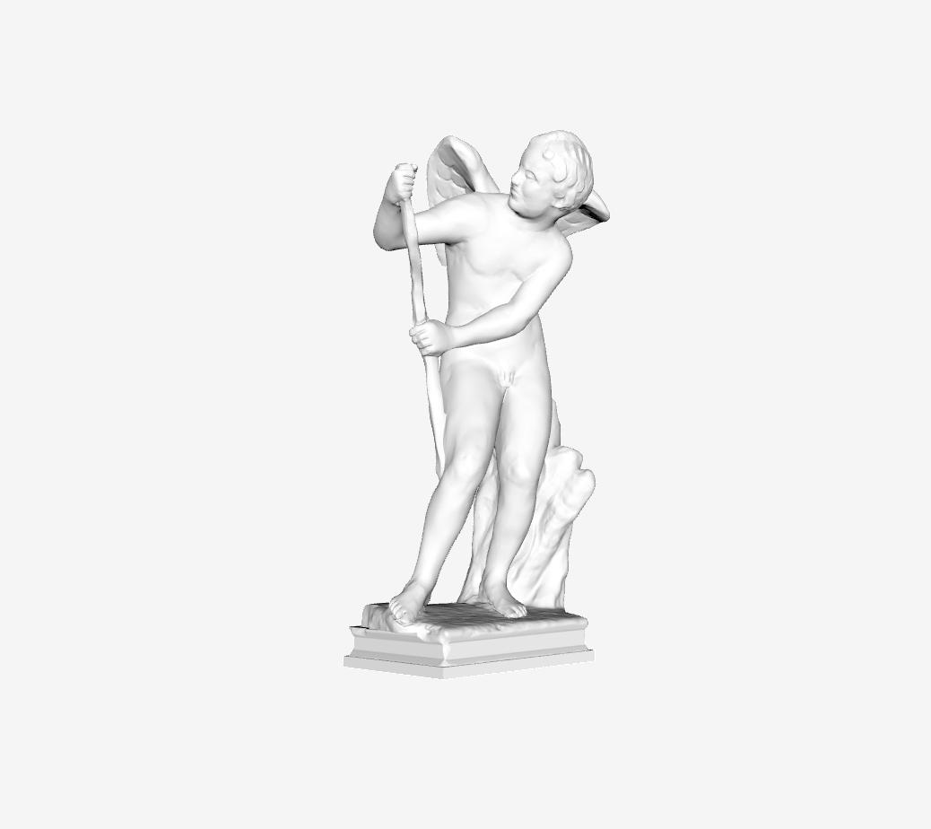 Capture d'écran 2018-09-21 à 10.40.49.png Télécharger fichier STL gratuit Eros archers (avec bâton) au Louvre, Paris, France. • Modèle pour impression 3D, Louvre
