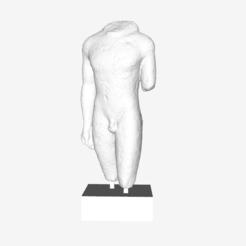 Free 3D printer designs Torso of a Man at The Louvre, Paris, Louvre