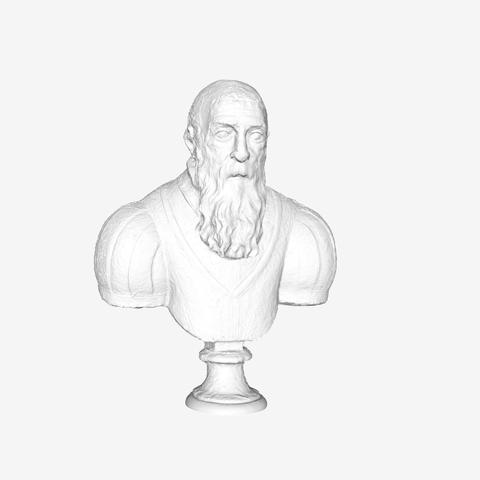 Download free STL file Portrait of an Elderly Man at The Louvre, Paris • 3D printable design, Louvre