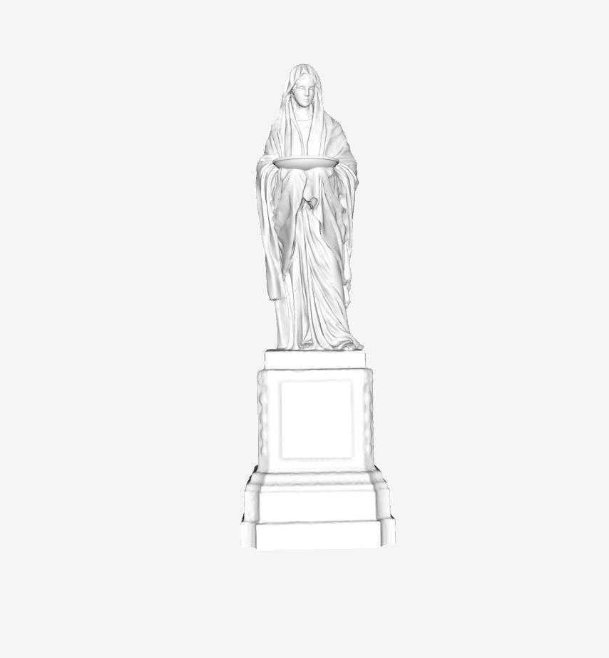 Capture d'écran 2018-09-21 à 13.39.47.png Download free STL file Vestale at the Louvre, Paris • 3D printable object, Louvre