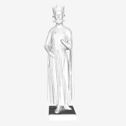 Download free 3D printing models Childebert at The Louvre, Paris, Louvre