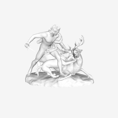Capture d'écran 2018-09-21 à 15.21.49.png Download free STL file The Genius of Hunting at The Louvre, Paris • 3D printing template, Louvre