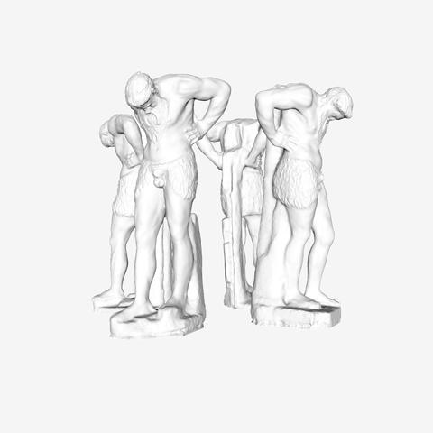Download free 3D printing files Atlante Satyres in The Louvre, Paris, Louvre