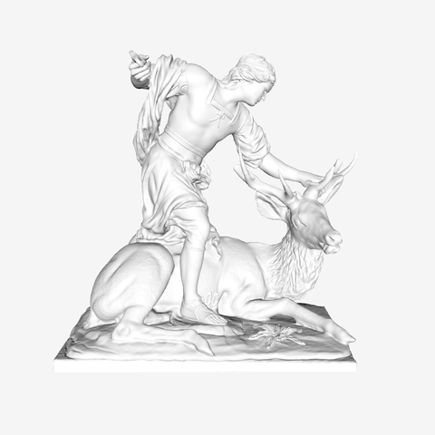 Capture d'écran 2018-09-21 à 14.44.03.png Download free STL file Meleager Killing a Deer at The Louvre, Paris • 3D print object, Louvre