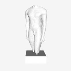 Download free 3D printer designs Fragment of a Kouros at The Louvre, Paris, Louvre