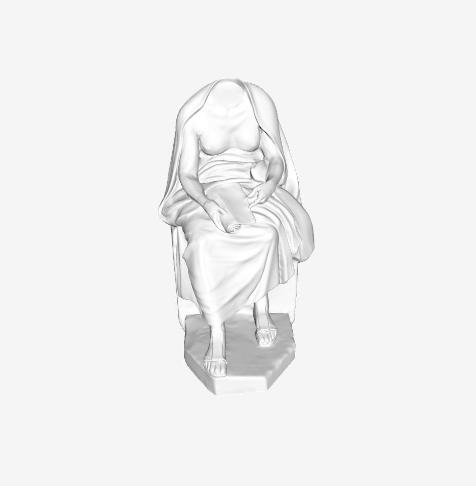 Capture d'écran 2018-09-21 à 10.00.09.png Télécharger fichier STL gratuit Métrodorus assis au Louvre, Paris • Objet pour impression 3D, Louvre