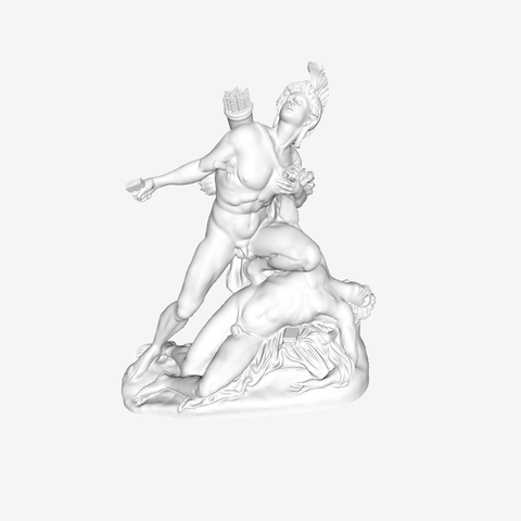 Download free 3D printer templates Nisus and Euryalus at The Louvre, Paris, Louvre