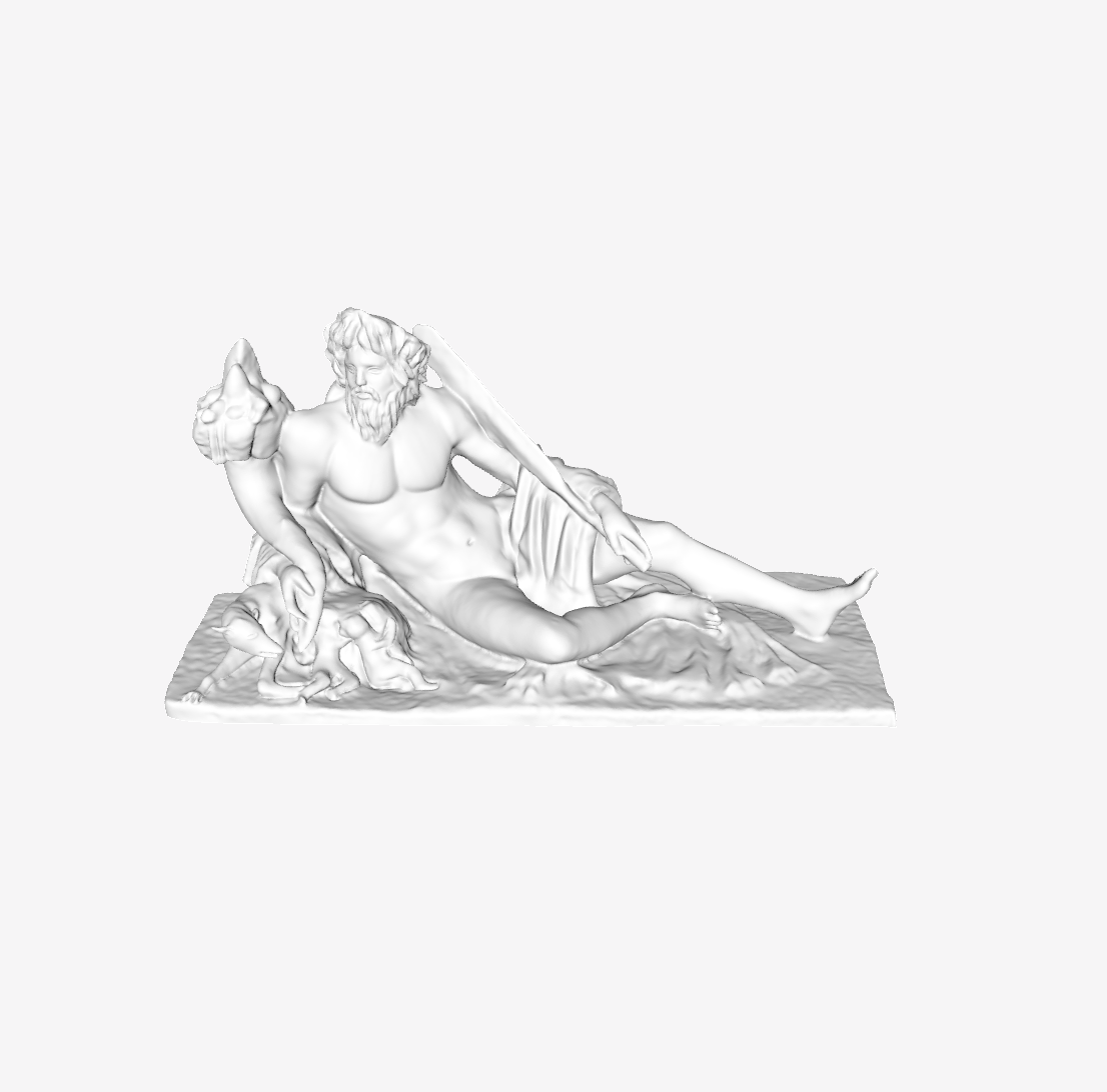 Capture d'écran 2018-09-21 à 10.13.31.png Download free STL file The Tiber at The Louvre, Paris • 3D print design, Louvre