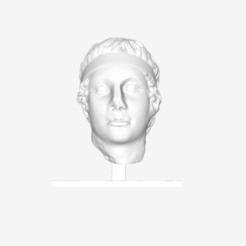 Download free STL file Head of a Victorious Athlete of the Diadumenos type at The Louvre, Paris • 3D print design, Louvre