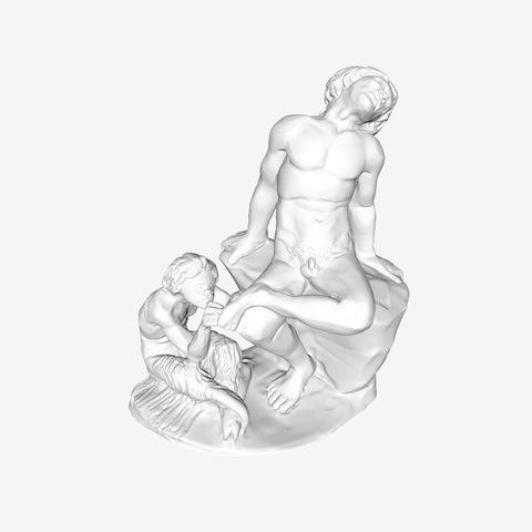 Download free 3D printing designs Pan Removing a Thorn From The Foot of Satyr at The Louvre, Paris, Louvre