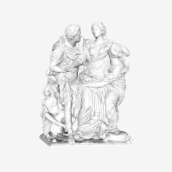 Download free STL file Arria and Paetus at The Louvre, Paris • Template to 3D print, Louvre