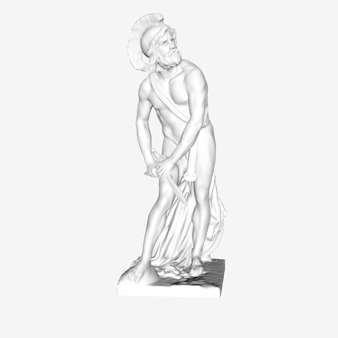 Download free 3D print files Philopoemen at The Louvre, Paris, Louvre