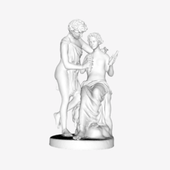 Download free 3D printer designs Daphnis and Chloe at The Louvre, Paris, Louvre
