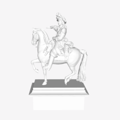 Download free 3D printer templates Louis XIV of France at the Louvre, Paris, Louvre